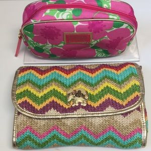 Lilly Pulitzer Spring Fling Clutch & make up bag